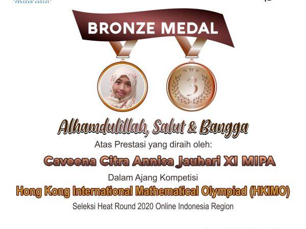BRONZE MEDAL HKIMO 2020